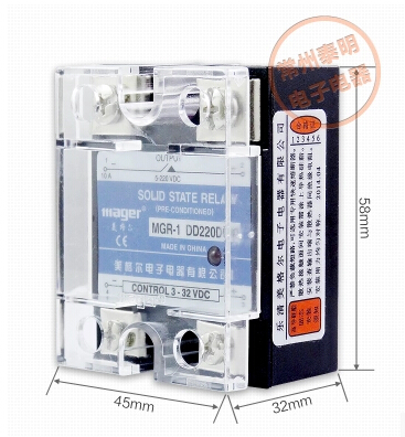 Mager  SSR 100A  DC-DC Solid state relay  Quality Goods  MGR-1 DD220D100 mager genuine new original ssr 80dd single phase solid state relay 24v dc controlled dc 80a mgr 1 dd220d80
