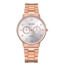 Mens Watches Top Brand Luxury Waterproof Rose Gold Quartz Watch Male Business Stainless Steel Wristwatch Relogio Masculino Y222 nuodun casual quartz watch men stainless steel gold plated mens watches top brand luxury wristwatch waterproof relogio masculino