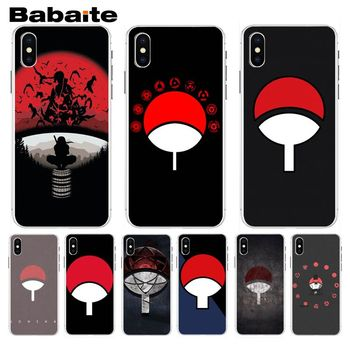 Babaite Naruto Shippuden Uchiha Itachi Clan Best Phone Case For iphone 8 8plus and 7 7plus 6s 6s Plus 6 6plus 5s Cellphones image