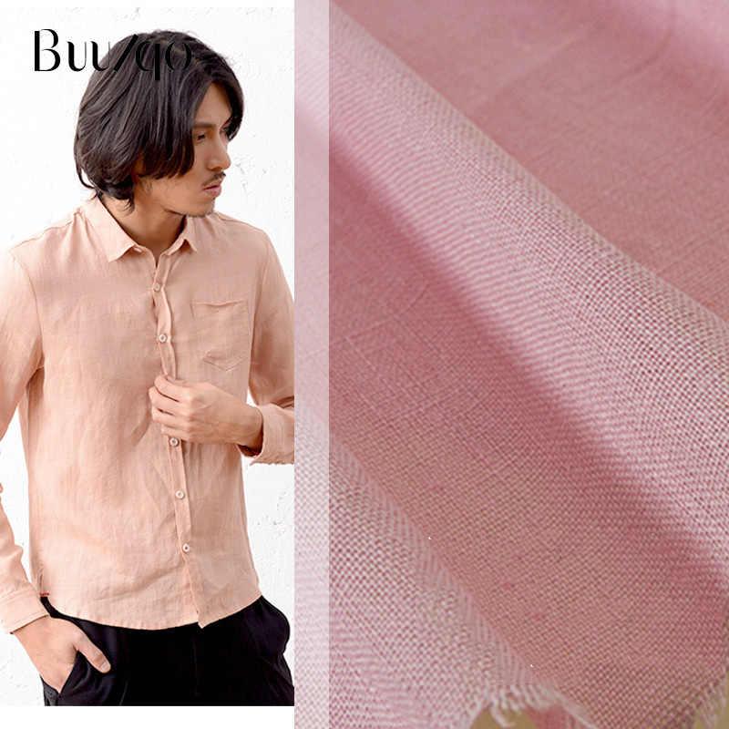 50*140 センチメートル薄型無地リネン生地 diy の縫製張りシャツドレス夏の服材料