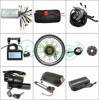 EU DUTY FREE Delivery 48V 1000W 26 Rear Motor Wheel Ebike Conversion Kit+14.5AH PANA Cell Down Tube Battery