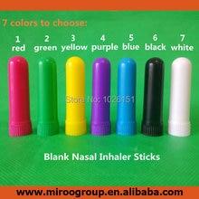 送料無料102セット空白アロマ鼻吸入器、鼻吸入器、ブランク鼻吸入器スティック(高品質綿芯)