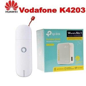 Vodafone USB 3G Huawei K4203 mobilnych usług szerokopasmowych Modem klucz sprzętowy + tp-link TL-MR3020 150 mb/s 1-Port 10/100 Wireless N Router