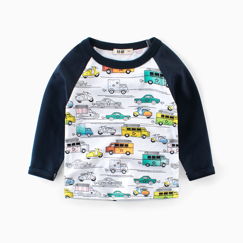 New Boys Clothing Toddler Long Sleeve Cartoon Car T Shirts Boys Cotton Clothes Children Printed T Shirts Tees Baby Boy TopsNew Boys Clothing Toddler Long Sleeve Cartoon Car T Shirts Boys Cotton Clothes Children Printed T Shirts Tees Baby Boy Tops