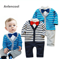 Anlencool Autumn Period And The Latest  Male Baby Cotton Gentleman Bow Tie Long-Sleeved Casual Cute Upgrades baby clothing