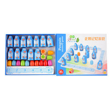 Wooden Children's Memory Toys Concentration training early education puzzle parent-child interactive table games penguin memory