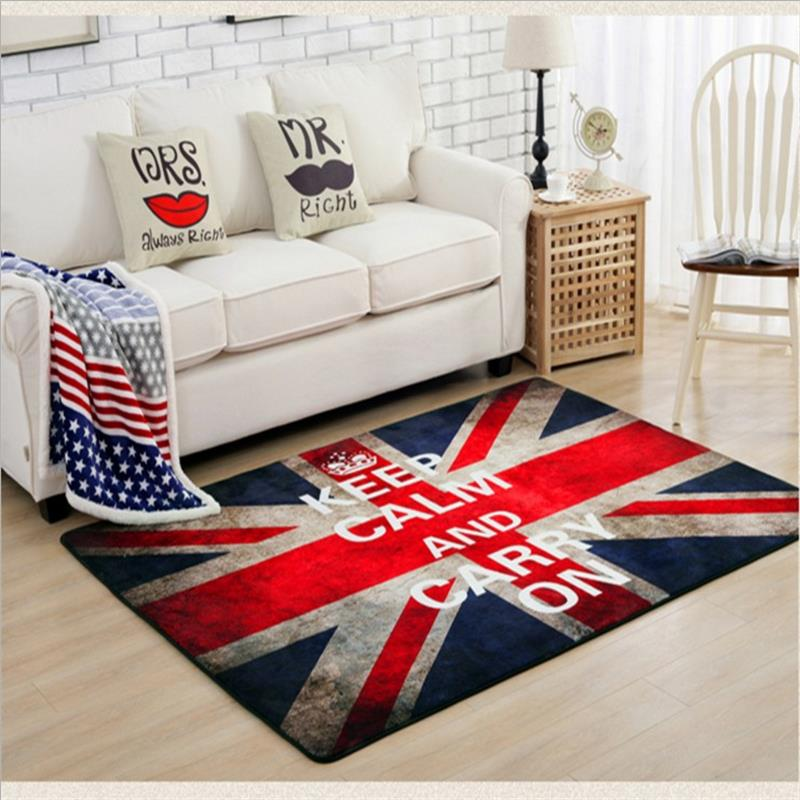 140X200CM Retro Flag Carpets For Living Room Home Bedroom Rugs And Carpets  Europe Polyester Coffee Table Area Rug Kids Play Mat