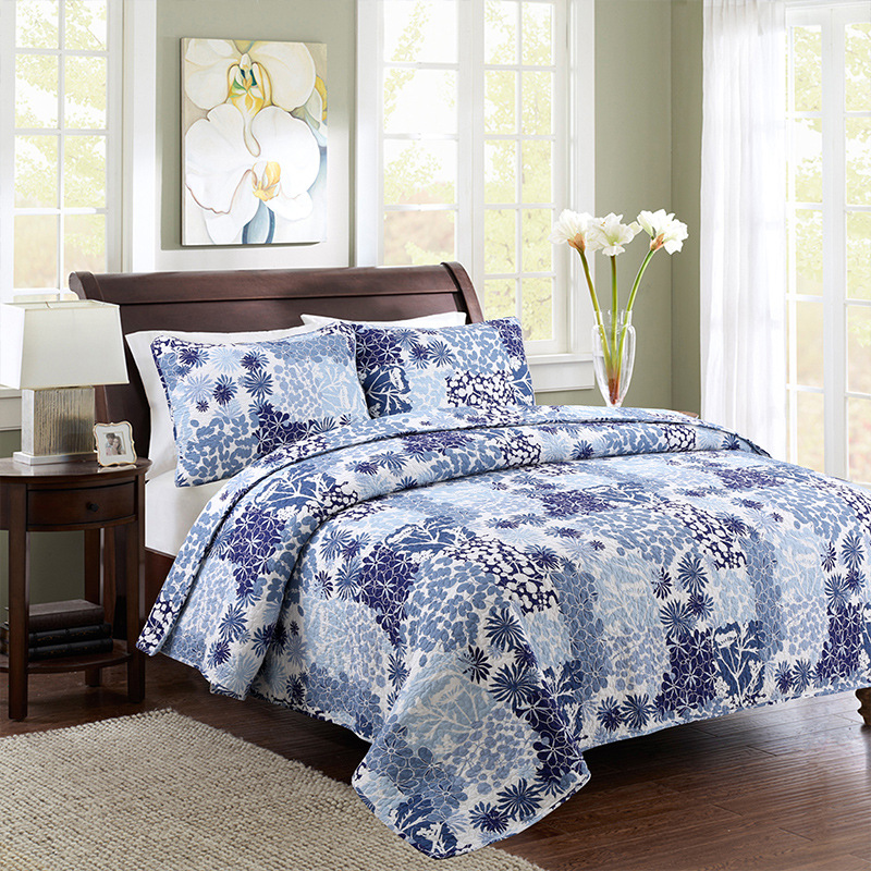CHAUSUB American Style Quality Quilt Set 3pcs Washed Cotton Quilts Quilted Bedspread Bed Cover Sheets Coverlet Set King SizeCHAUSUB American Style Quality Quilt Set 3pcs Washed Cotton Quilts Quilted Bedspread Bed Cover Sheets Coverlet Set King Size