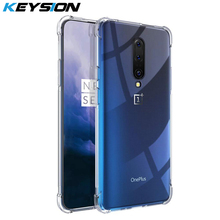 KEYSION Case For Oneplus 7 Pro 7 6 Transparent Reinforced Corner Full Protection Anti-knock TPU Soft Back Cover For 1+ 7 Pro 6T