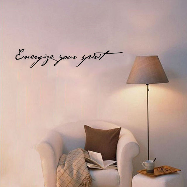Wall decals Energize Your Spirit Living Room Decorative Vinyl Art ...