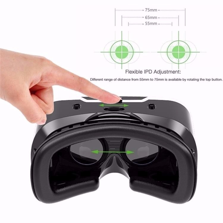 Shinecon 2.0 VR Pro Version Virtual Reality 3D Glasses Headset Google Cardboard BOX 3.0 Movie Game For 4.7-6 inch Phone + Remote 18