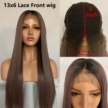 hot deal buy fanxiton synthetic lace front wig ombre wig 13x6 synthetic lace front wig straight synthetic hair lace wigs for black women