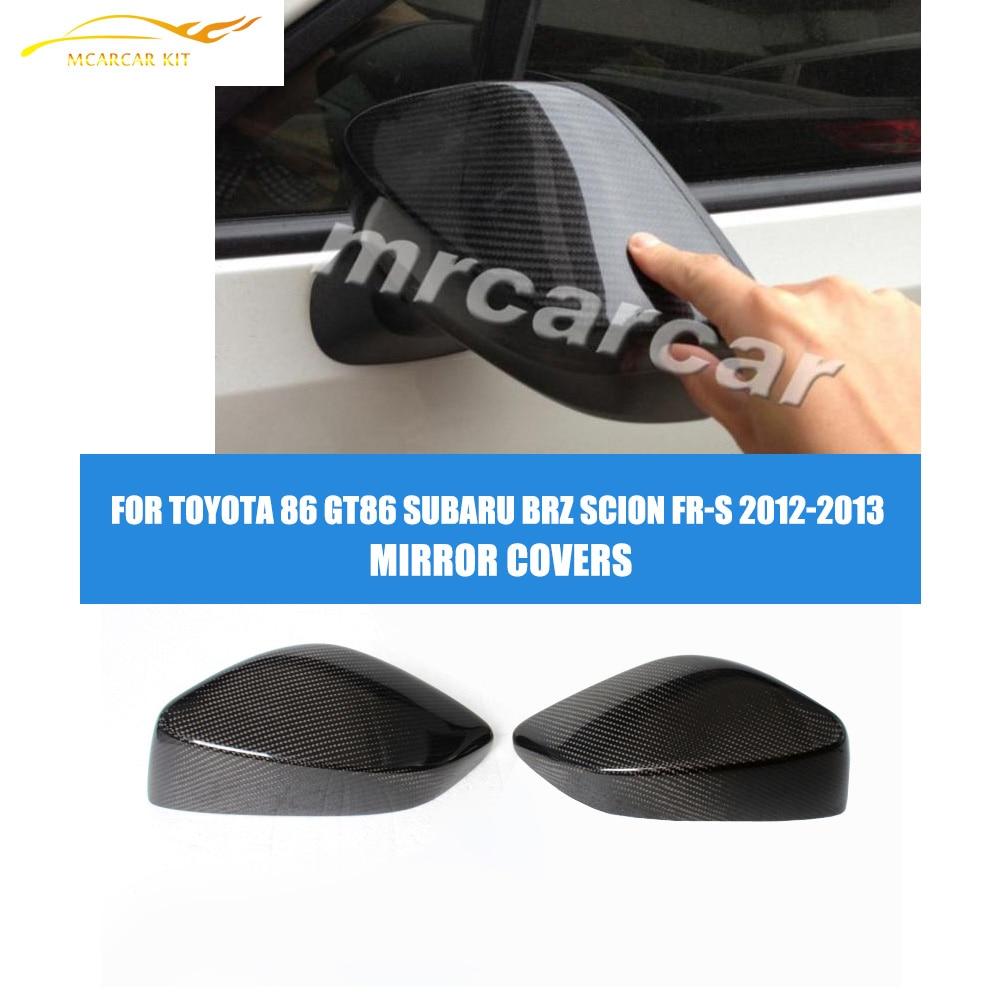 2PCS/Set Carbon Fiber Add on style Side Mirror Covers Caps Fit For Toyota 86 GT86 Subaru BRZ Scion FR-S 2012-2013