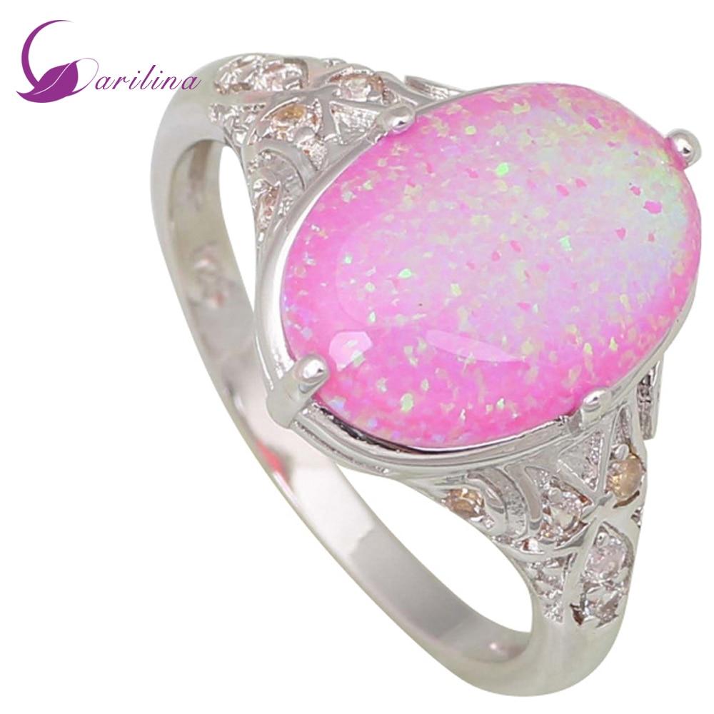 Fashion Opal rings Fine Jewelry Women's rings Pink Fire Opal Silver Filled Gift ring size 5 6 7 8 9 R443 декор cifre ceramica opal decor opal grey 7 5x30