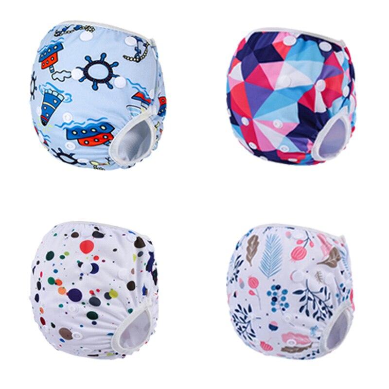 Cheap Multi-print Snap Swim Diaper Adjustable Cloth swimwear Toddler Baby Girls or Boys washable Leakproof swim suit mesh inner