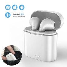 I7s TWS Mini Drahtlose Ohrhörer Sport Bluetooth Kopfhörer Kopfhörer Mit Lade Box Mic Stereo Android Headset Für iPhone Xiaomi