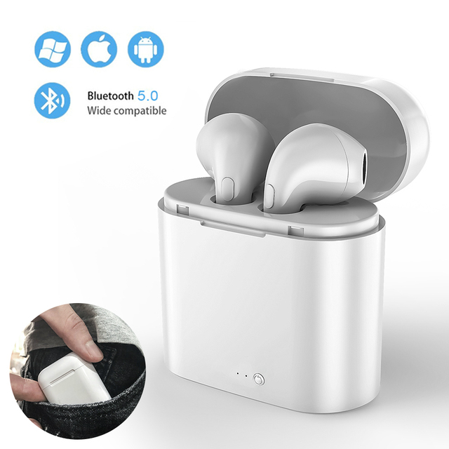 I7s tws mini fones de ouvido sem fio esporte bluetooth fone com caixa carregamento microfone estéreo android para iphone xiaomi