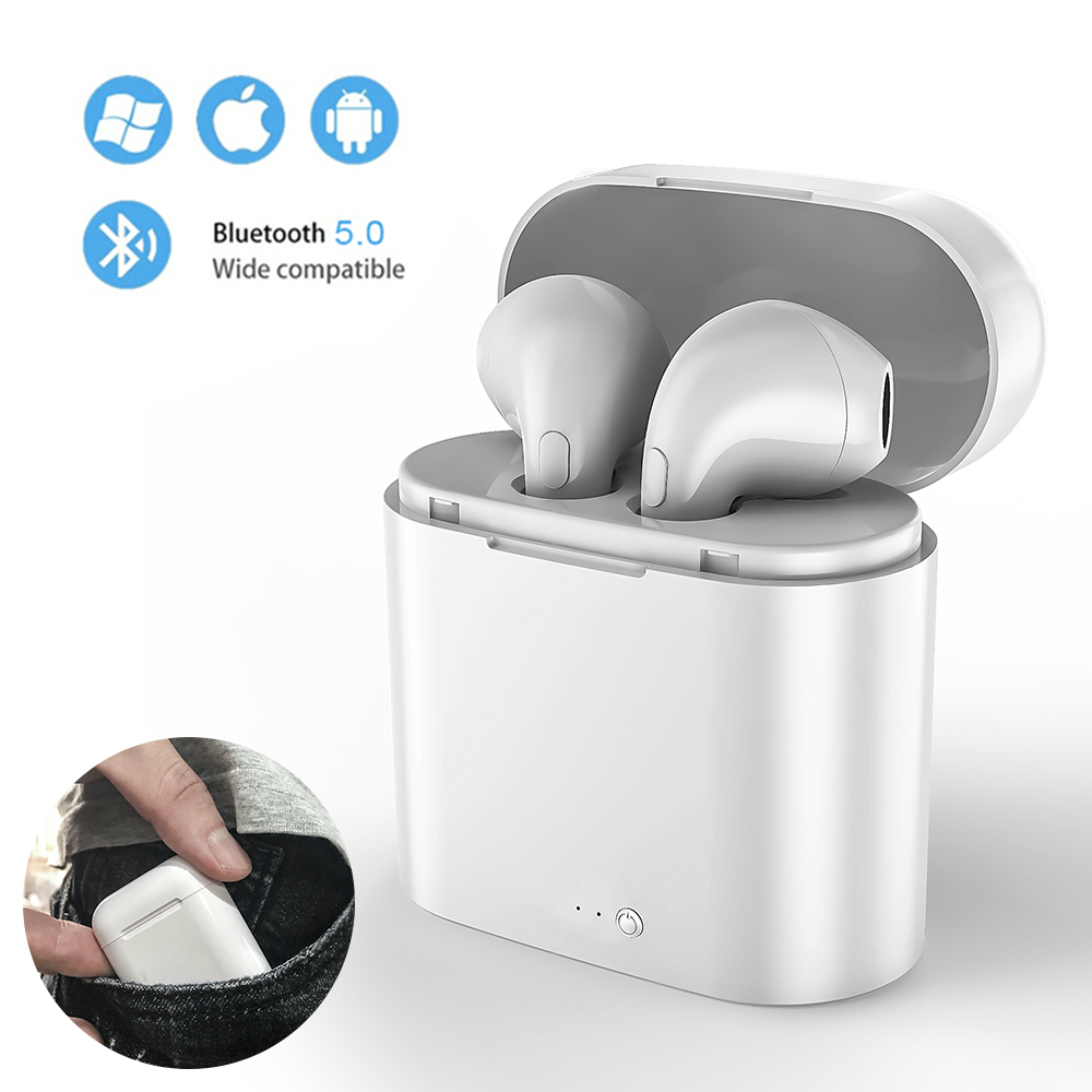 i7s TWS Mini Wireless Earbuds Sport Bluetooth Earphone Headphones With Charging Box Mic Stereo Android Headset For iPhone Xiaomi-in Bluetooth Earphones & Headphones from Consumer Electronics