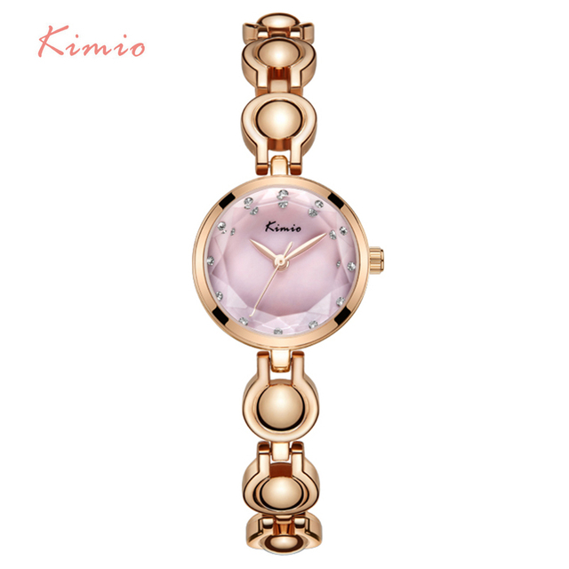 Kimio Brand Women's Bracelet Watches Luxury Ladies Crystal Multi-faceted Dial Di
