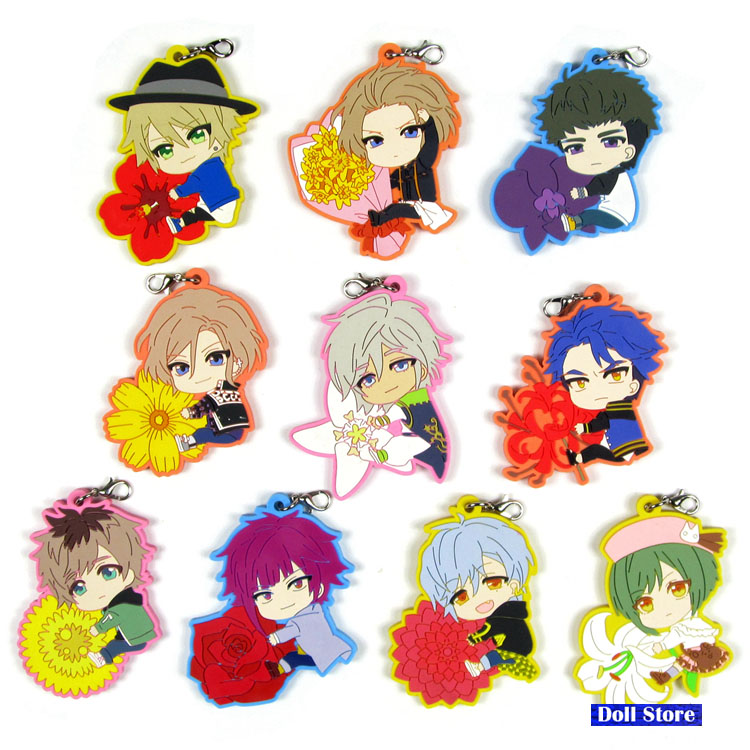 A3! Act!addict!actors! Original Japanese Anime Figure Rubber Mobile Phone Charms Keychain Strap D215