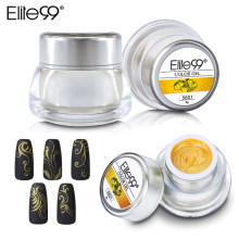 Elite99 3D Pintura Verniz Gel Soak Off Nail Art UV Gel Unha Polonês Tinta Glitter Cor Gel Polonês Top De Base coat Manicure DIY(China)