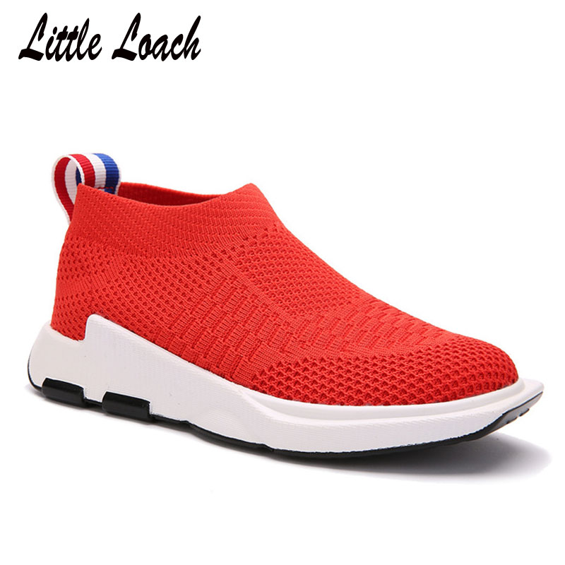 Breathable Children Casual Mesh Shoes Size 26-38 Boys Girls Sports Tennis Sneakers Spring Kids Slip-on Shoes Soft Black Zapatos girl and boy loafers shoes sneakers slip on girls winter kid casual boys shoe black breathable children flats sporting shoes