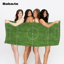 Custom Football Pitch Soccer Football Fans Gift Beach Towel Bath Sports Travel Towel Home Hotel Drying Washcloth Kids Blanket