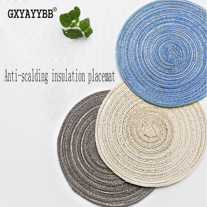 GXYAYYBB 1PC/Set cloth Table Place Mats Coaster Coffee Drinks Kitchen Accessories Cup Bar Mug Coaster Mats Pads Tea Cup Holder