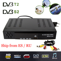 Digital HD Satellite DVB T2 S2 combo TV Receiver Receivable For YouTube 1080P IKS Bisskey WIFI Dongle DVB T2 S2 TV Tuner MPEG4