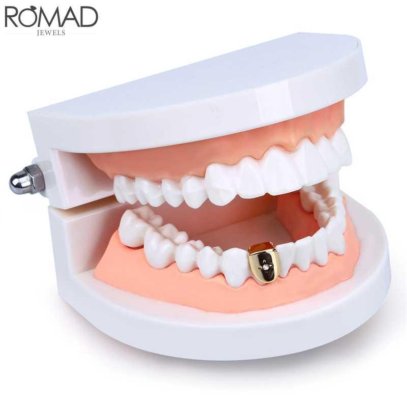 Серьги с зубами ROMAD, в стиле хип-хоп, с золотыми зубами, в стиле панк, украшения для зубов, подарок на вечеринку, R5