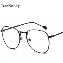 ReeXunky Fashion Anti Blue Ray Radiation Blue Light Blocking Glasses Round Anti eye Fatigue Computer Gaming Goggles Eyeglasses цена