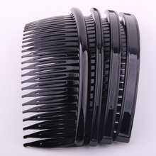 12*4.5cm DIY  Hair Comb With 24 Teeth for girls women hair using accessory making black colors 10 pcs Per Lot