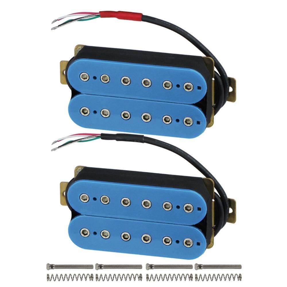 FLEOR Double Coil Humbucker Pickup Set Electric Guitar Bridge & Neck ...
