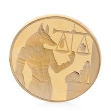 Посеребренные весы египетская Пирамида памятный вызов монета сувенир жетон