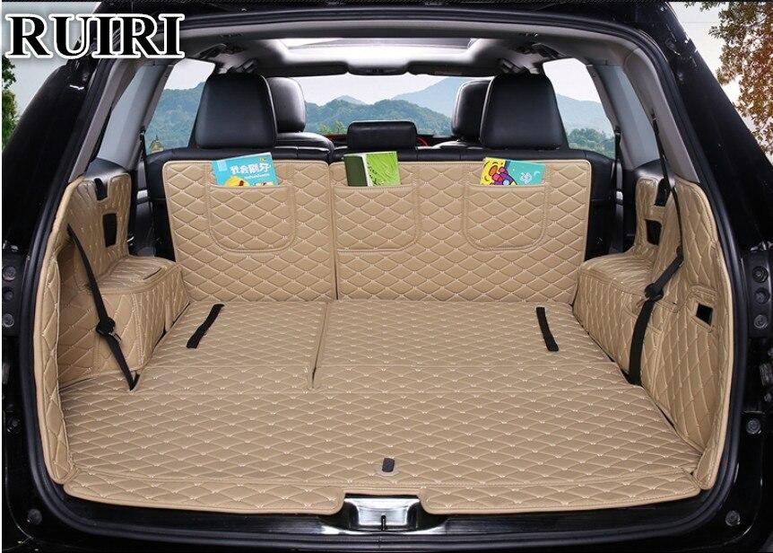 Di alta qualità! Set completo mats bagagliaio di un'auto per Toyota Highlander 7 sedili 2018-2014 resistente cargo liner mat boot tappeti, trasporto libero