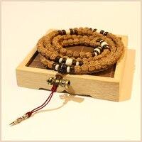 TALE Design 108mala Rudraksha Necklace Men Women Buddhism Jewelry Pray Beads Vajia Bell Pendant Tribal Bracelet