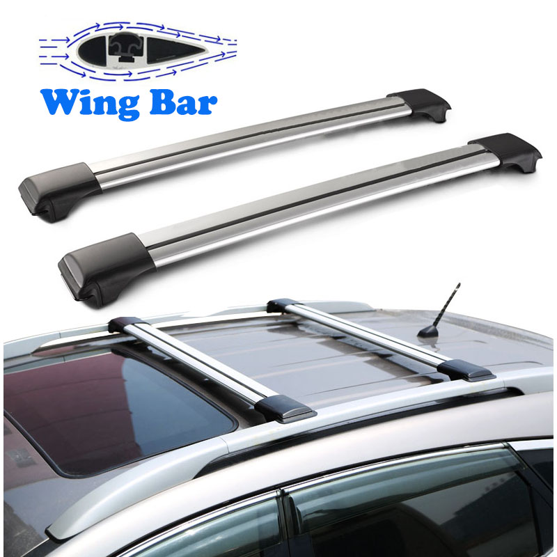 Auxmart Roof Rack CrossBars with Anti-theft Lock Universal 93~111cm Car Roof Racks Rail Boxes Cross bar Cargo Luggage Carrier