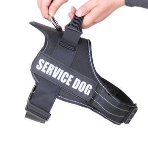 Image 2 - Haustier Hund Harness Reflektierende Seil Nylon Griff Einstellbare Anti kollision Weste Harness für Small Medium Large Hunde Camouflage