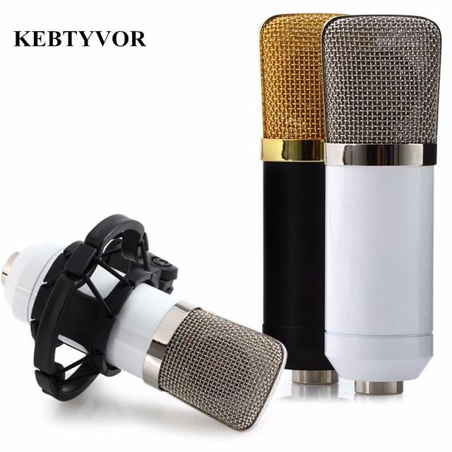 BM-700 профессиональный проводной ручной микрофон 3,5 мм конденсатор с ударным креплением микрофон для записи компьютера Microfono