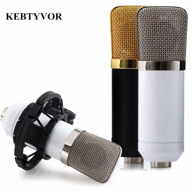 BM-700 Professional проводной ручной микрофон мм 3,5 мм конденсаторный с подвесом микрофон для записи компьютера Microfono
