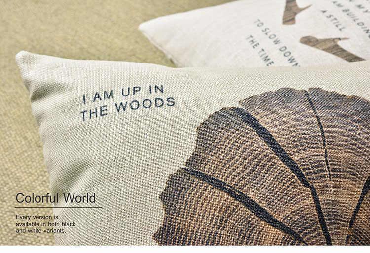 """Gỗ Hươu Gối Bìa Tự Nhiên Trang Trí Nội Thất Cushion Cover Linen Bông Ném Gối Đệm Pillowcase Pillowsham 17 """"x 17"""""""