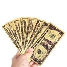 7 шт./компл. 1 2 5 10 20 50 100, цена в долларах, банкноты украшения Античная никелированная золото США сувенир домашнее украшение Прямая
