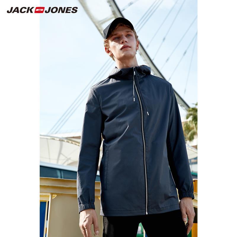 JackJones Men's Cotton Hooded Long-sleeved Jacket Basic E|219121565