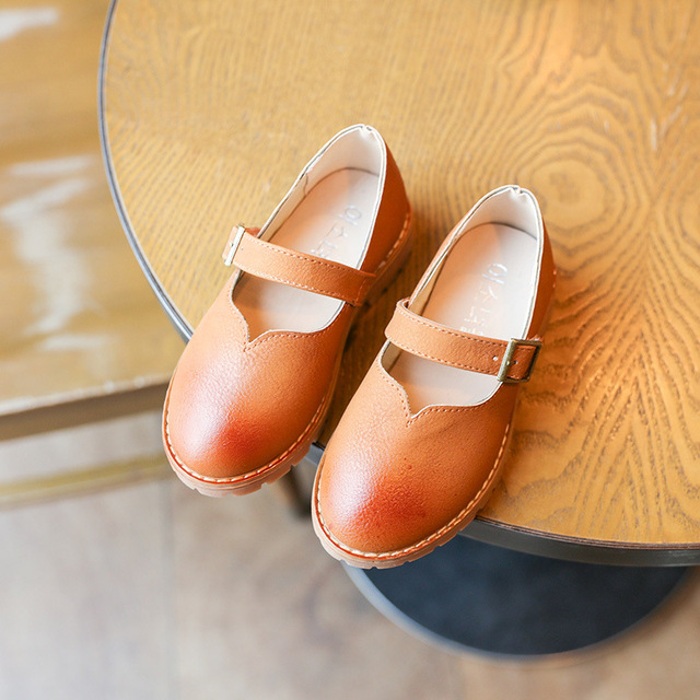 2017 New Design Baby Girl Leather Shoes Solid Kid Fashion Dance Shoes Children Spring Autumn Princess Style Chaussures
