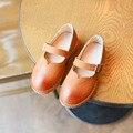 2017 nuevo diseño de la niña danza shoes shoes kid moda sólido de cuero niños del otoño del resorte de princesa style chaussures