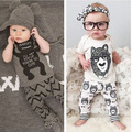 2016 fashion baby boy clothes short sleeve animal prited summer hot sale cotton baby boy and girls newborn bebes clothing set