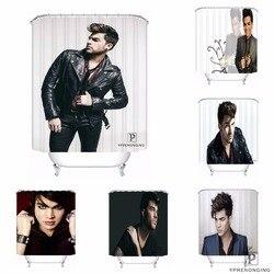 Custom Adam Lambert Impermeabile Tenda Della Doccia Bagno di Casa Bagno s Ganci Tessuto In Poliestere Multi Sizes180509-02-148