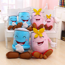 Creative Funny Cans Cylindrical Beverage Bottle Cartoon Plush Pillow Laughing Table Couple Backrest Girl Birthday Gift