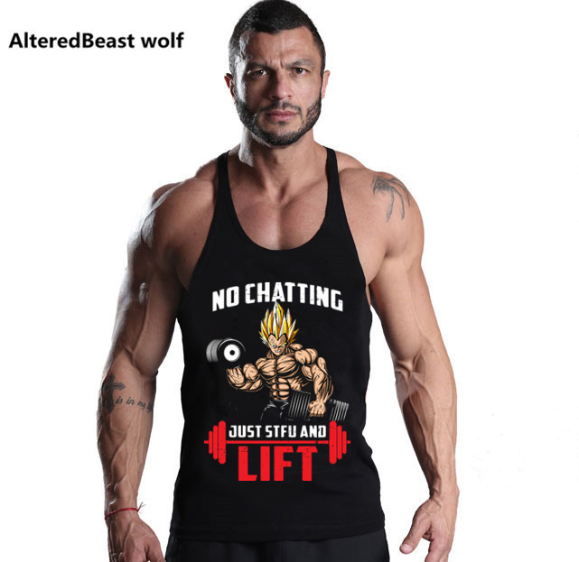 New Fitness Men Bodybuilding   Tank     Tops   Sleeveless Brand Men Clothing Singlet Cotton Shirts Summer Vest Fashion Workout Stringer