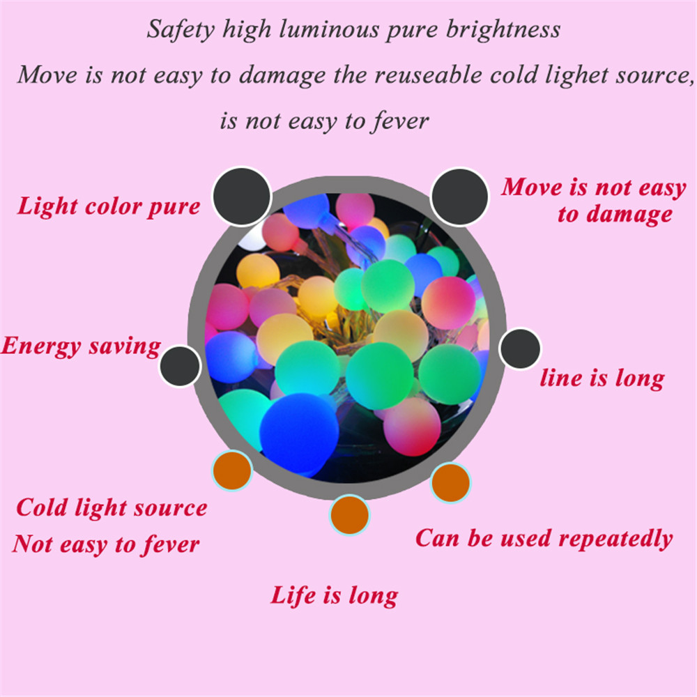 high voltage home and garden decoration ball globe led string lights (7)